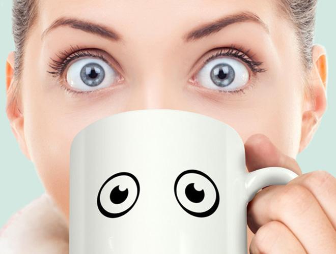 кружка с глазами