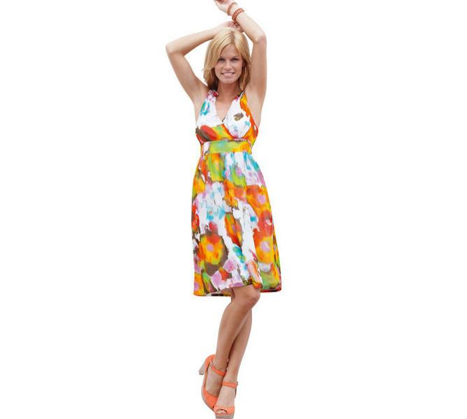 Платье с V-образным вырезом Quelle